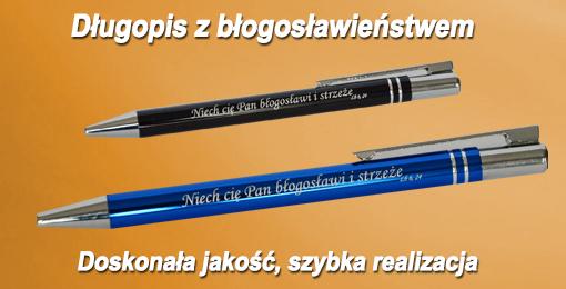 Długopisy z błogosławieństwem