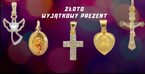 Złoto Medaliki Krzyżyki Łańcuszki Różańce