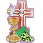 Emblemat na Boże Ciało Krzyż gołębica