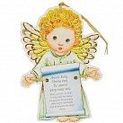 Aniołek z modlitwą Aniele Boży dla chłopca