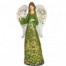 Figurka Anioł zielono-złoty
