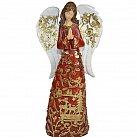 Figurka Anioł bordowo-złoty