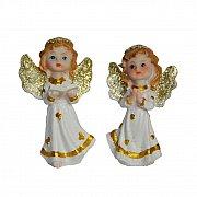 Figurka Aniołek biało-złoty w torebce
