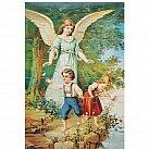 Puzzle Anioł Stróż z dziećmi nad przepaścią