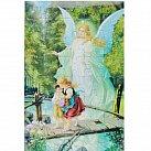 Puzzle Anioł Stróż z dziećmi kładka