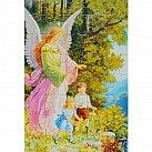 Puzzle Anioł Stróż z dziećmi kółko