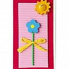 Karnet Pierwsze urodziny dla dziewczynki Kwiatek