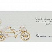 Karnet z okazji ślubu tandem drewno