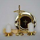 Komplet kolędowy metalowy mały papieski złoty