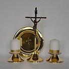 Komplet kolędowy metalowy pręt lekki złoty