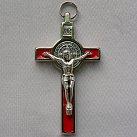 Krzyż św. Benedykta 7 cm czerwony