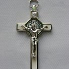 Krzyż św. Benedykta 7 cm biały