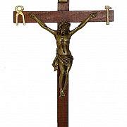 Krzyż Saletyński 42 cm ciemny
