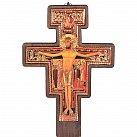 Krzyż franciszkański bukowy ciemny 45 cm