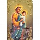 Obrazki święty Józef z modlitwą