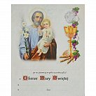 Obrazek do Pierwszej Komunii Świętej, św. Józef z Jezusem, WZÓR nr 79
