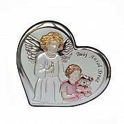 Obrazek srebrny Twój Anioł Stróż dziewczynka