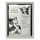 Obrazek srebrny ANIOŁEK z Modlitwą ramka