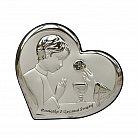 Obrazek srebrny Pamiątka Pierwszej Komunii Świętej dla Chłopca serce