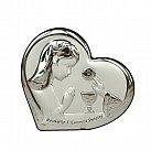 Obrazek srebrny Pamiątka Pierwszej Komunii Świętej dla Dziewczynki serce