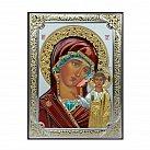 Ikona srebrna kolorowa Matka Boża Kazańska