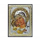 Ikona srebrny Matka Boża Włodzimierska mała