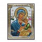 Ikona srebrna Matka Boża Nieustającej Pomocy kolorowa