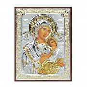 Ikona srebrna Matka Boża Nieustającej Pomocy mała