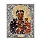 Ikona święta Matka Boża Częstochowska metalowa