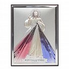 Obrazek srebrny kolorowy Jezus Miłosierny