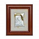 Obrazek srebrny Matka Boża Cygańska w drewnianej ramie