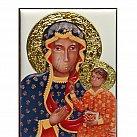 Obrazek srebrny Madonna Częstochowska w kolorze