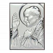 Obrazek srebrny Święty Jan Paweł II