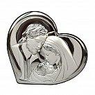 Obrazek srebrny ŚWIĘTA RODZINA serce średni