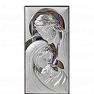 Obrazek srebrny Święta Rodzina pionowa mała