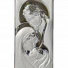 Obrazek srebrny Święta Rodzina pionowa duża