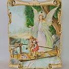 Obrazek na drewnie Anioł Stróż