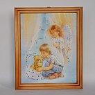 Obrazek w ramce Anioł Stróż chłopiec z misiem