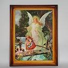 Obraz w ramce Anioł Stróż na Kładce