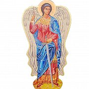 Anioł Stróż na drewnie
