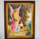 Obraz Anioł Stróż z dziećmi nad przepaścią