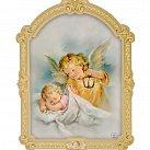 Obrazek na drewnie Anioł Stróż latarenka 20 x 16 cm