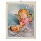 Anioł Stróż z Latarenką w Białej Ramce