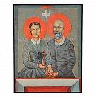 Obrazek z ikoną św. małżonków Ludwika i Zelii Martin