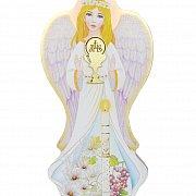 Anioł na drewnie Komunia