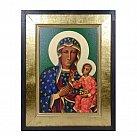 Obraz Ikona Matka Boża Częstochowska na płotnie