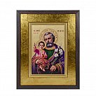 Obraz Ikona Św. Józef z Jezusem