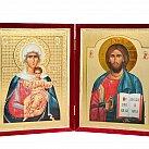 Ikona Matka Boska i Chrystus Pantokrator