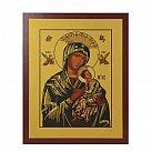 Obrazek z ikoną Matki Boskiej Nieustającej Pomocy złota