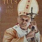 Obraz Tkany Jan Paweł II